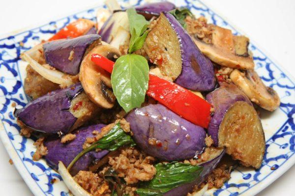 Egg Plant Spicy Basil w/ Ground Chicken - $13.95