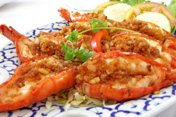 Jumbo Shrimp with Garlic Sauce - $18.95