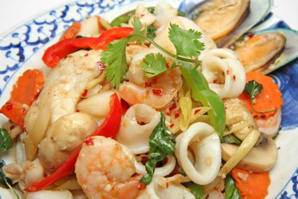 Seafood Combination with Ginger and Lime Sauce - $18.95