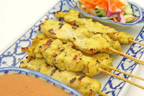Satay w/Chicken (6) - $12.95