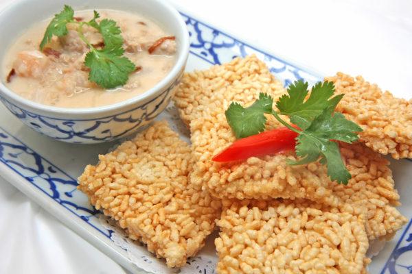 Thai Crispy Rice with Dip $10.95