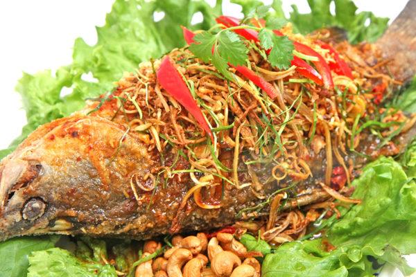 Deep Fried Whole Fish w/ Thai Herbs - $29.95