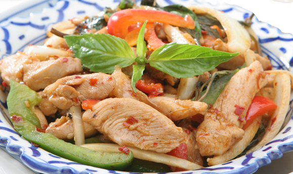 Basil Leaves with Chicken - $13.95