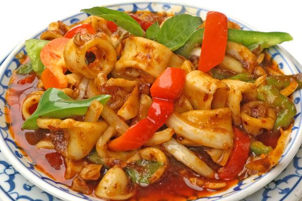 Calamari w/Prik Pao Sauce - $16.95