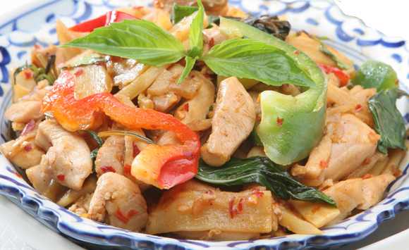 Pad Ped Bamboo Shoot with Chicken - $13.95