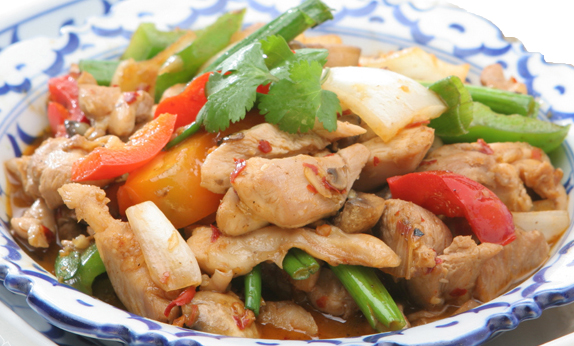 Pad Prik with Chicken - $13.95