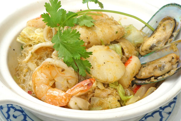 Seafood Combination with Steamed Silver Noodle - $18.95