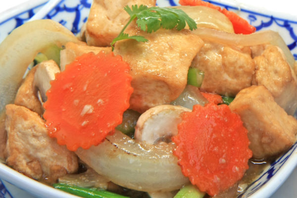 Tofu w/Mushroom & Onions - $13.95