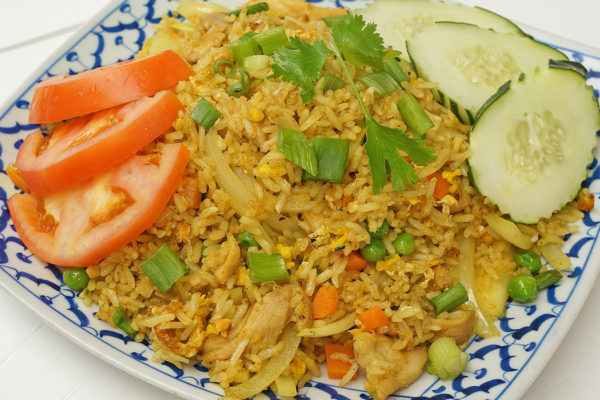 Yellow Curry Fried Rice w/ Chicken - $13.95
